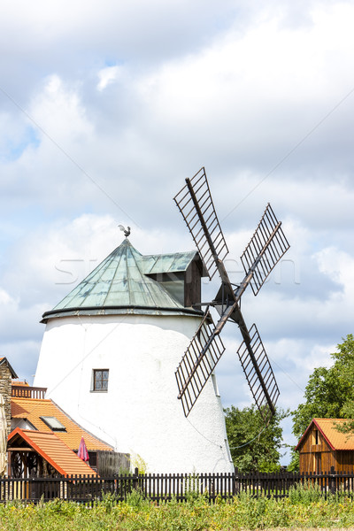 windmill, Lukov, Czech Republic Stock photo © phbcz