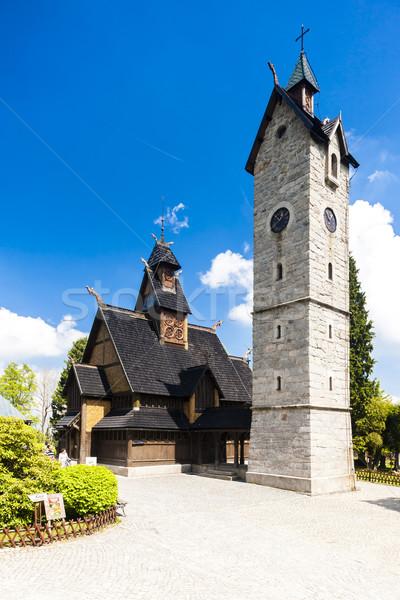 Kościoła Polska architektury Europie historii odkryty Zdjęcia stock © phbcz