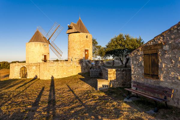 旅行 アーキテクチャ ヨーロッパ 風車 屋外 フランス ストックフォト © phbcz