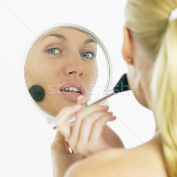 Zdjęcia stock: Uzupełnić · kobieta · twarz · piękna · twarze · młodych