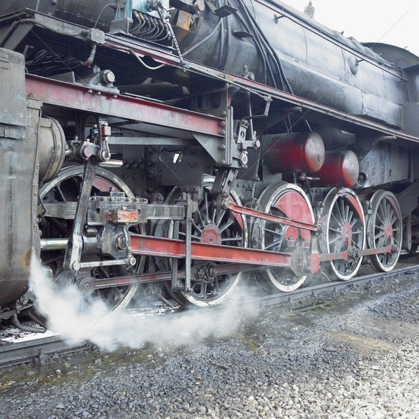 detail of steam locomotive (33-326), Dubrava, Bosnia and Hercego Stock photo © phbcz