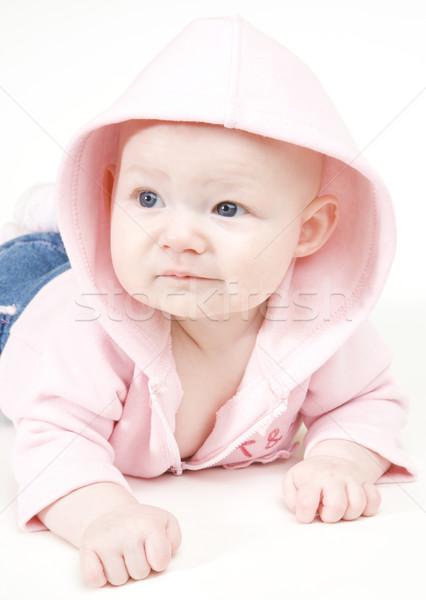 Stock fotó: Lánycsecsemők · portré · gyerekek · gyermek · biztonság · lányok