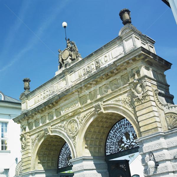 Brasserie porte République tchèque bâtiment architecture histoire Photo stock © phbcz