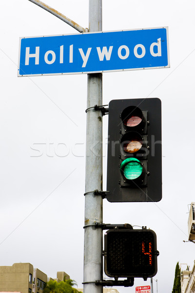 semaphore, Hollywood, Los Angeles, California, USA Stock photo © phbcz