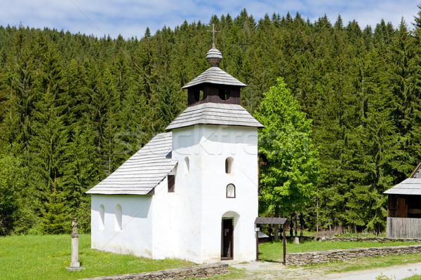 Templom múzeum falu Szlovákia épület Stock fotó © phbcz