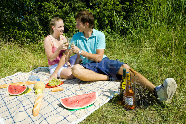 couple at a picnic Stock photo © phbcz