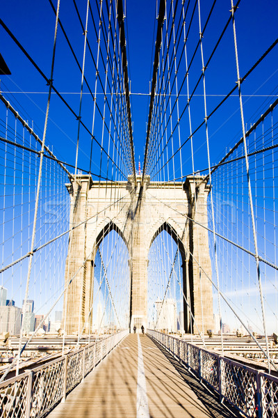 Brooklyn Bridge, Manhattan, New York City, USA Stock photo © phbcz