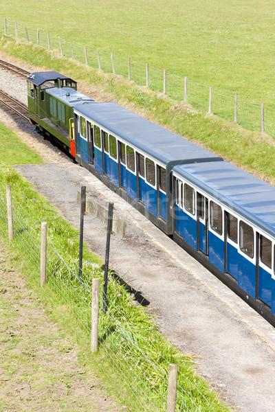 Stretta ferrovia Inghilterra treno Europa Foto d'archivio © phbcz