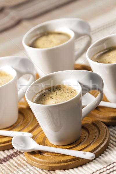 Café lugar quente colher objeto Foto stock © phbcz