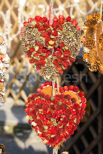 Christmas rynku Wiedeń Austria miłości obecnej Zdjęcia stock © phbcz