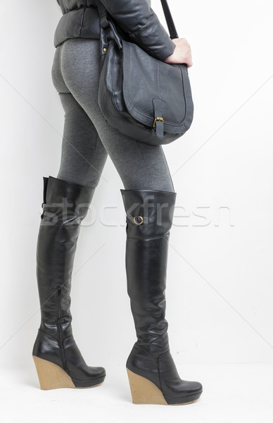 詳細 立って 女性 着用 プラットフォーム 黒 ストックフォト © phbcz