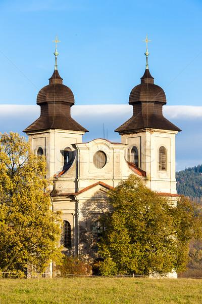 Kilise aziz Çek Cumhuriyeti Bina mimari Avrupa Stok fotoğraf © phbcz