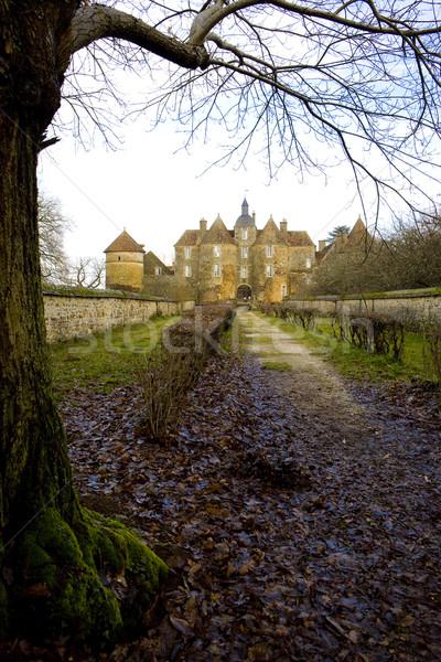 Chateau de Ratilly, Burgundy, France Stock photo © phbcz