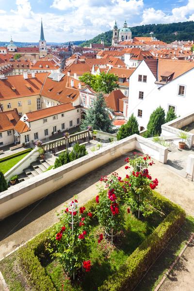 Bahçe aziz kilise Prag Çek Çek Cumhuriyeti Stok fotoğraf © phbcz
