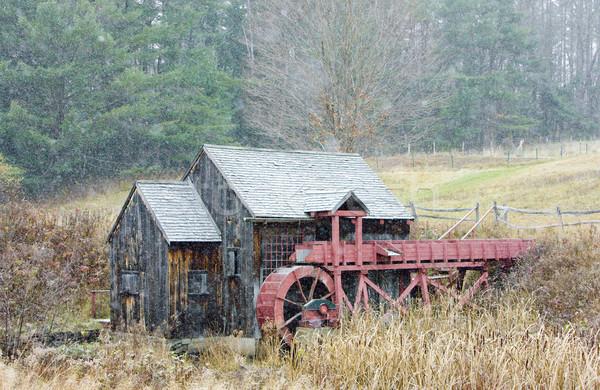 Młyn Vermont USA budynku podróży jesienią Zdjęcia stock © phbcz