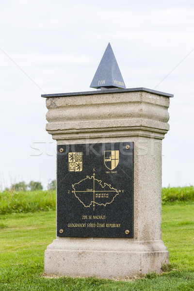 geographical center of the Czech Republic in Cihost Stock photo © phbcz