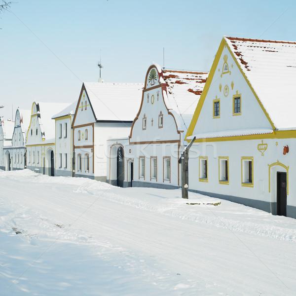 Holasovice in winter, Czech Republic Stock photo © phbcz