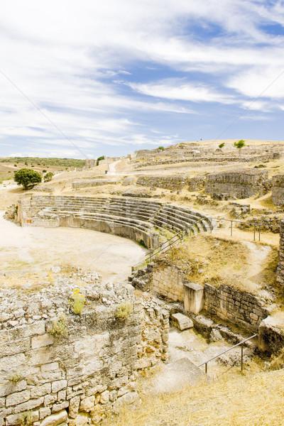 Roman Amphitheatre of Segobriga, Saelices, Castile-La Mancha, Sp Stock photo © phbcz
