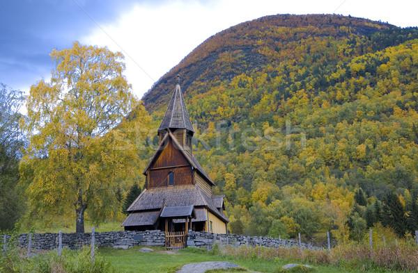 Noruega edificio viaje arquitectura historia caída Foto stock © phbcz