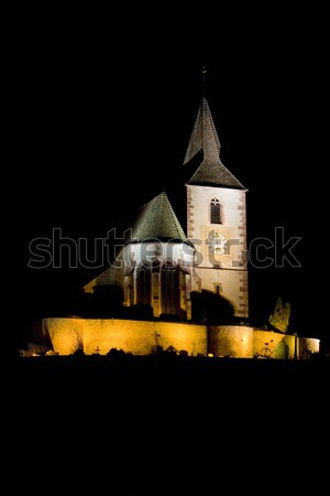 Hunawihr at night, Alsace, France Stock photo © phbcz