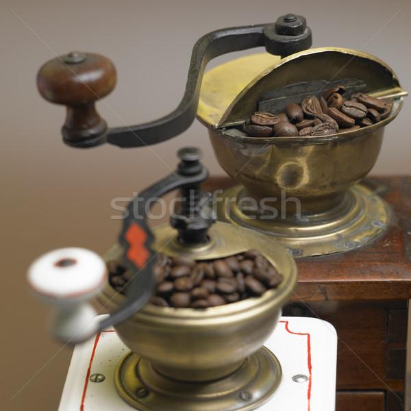 Café comida beber interior bebidas fresco Foto stock © phbcz