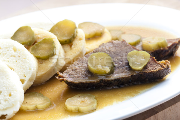 znojemska beef roast (Czech cuisine) Stock photo © phbcz