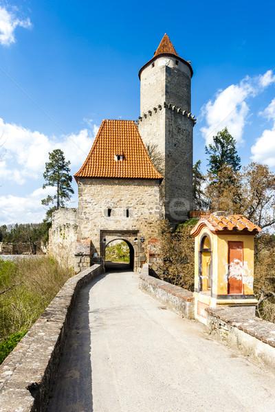 Kale Çek Cumhuriyeti seyahat mimari tarih kule Stok fotoğraf © phbcz