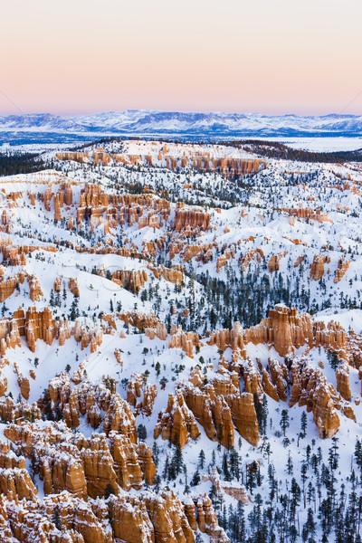 Kanyon park tél Utah USA tájkép Stock fotó © phbcz