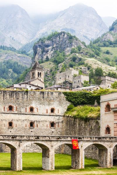 крепость Италия здании Церкви гор история Сток-фото © phbcz