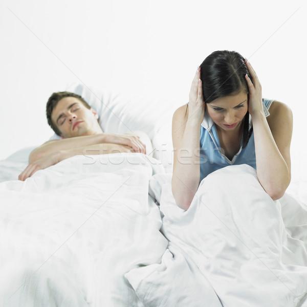 Pár nő férfi párok fiatal alszik Stock fotó © phbcz