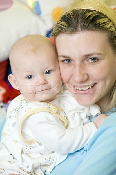 Ritratto madre baby donna famiglia amore Foto d'archivio © phbcz