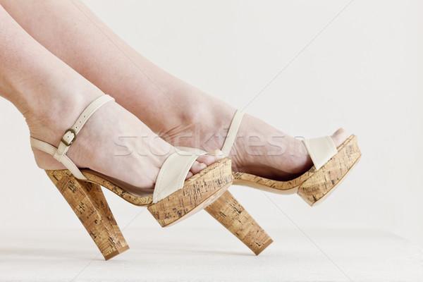 Stockfoto: Detail · vergadering · vrouw · zomerschoenen · vrouwen