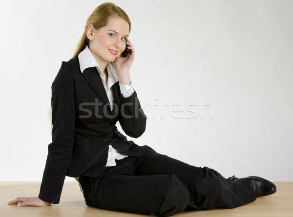 telephoning businesswoman Stock photo © phbcz