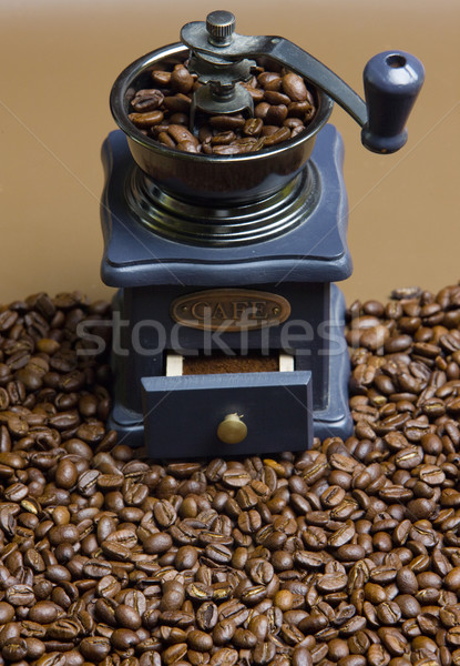 Kahve değirmen kahve çekirdekleri içmek içecekler taze Stok fotoğraf © phbcz