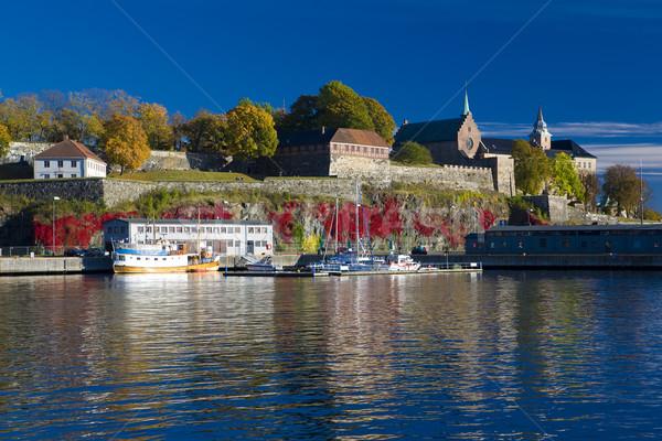 オスロ ノルウェー 建物 海 船 ストックフォト © phbcz