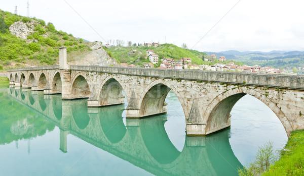 bridge over Drina River, Visegrad, Bosnia and Hercegovina Stock photo © phbcz