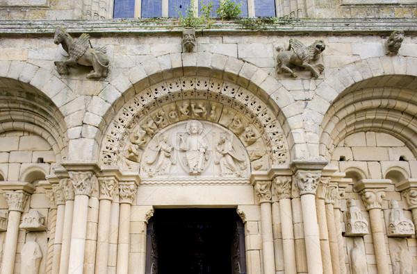 St-Sauveur Basilica, Dinan, Brittany, France Stock photo © phbcz