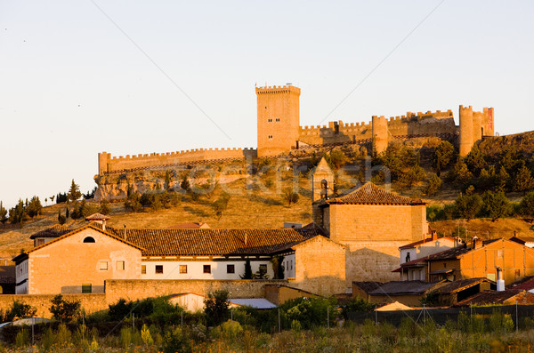Penaranda de Duero Castle with village, Burgos Province, Castile Stock photo © phbcz