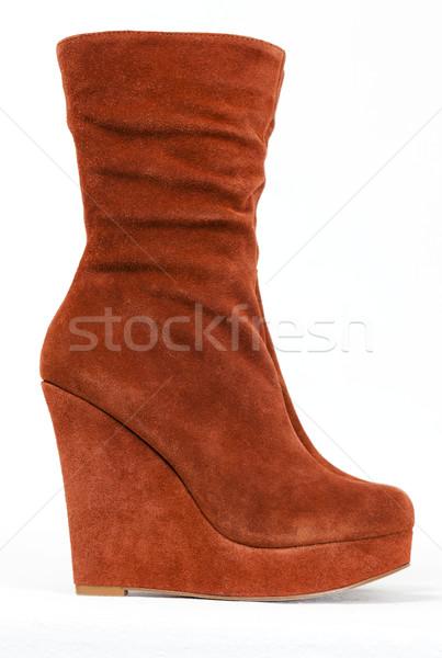 Modieus bruin schoen stijl object Stockfoto © phbcz