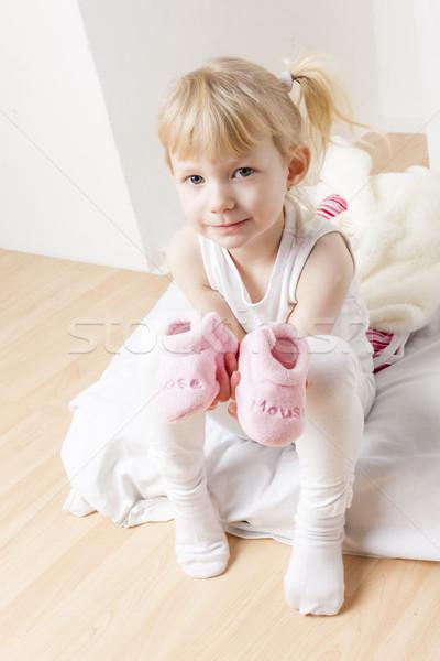 Nina ropa zapatos bebé nina nino Foto stock © phbcz