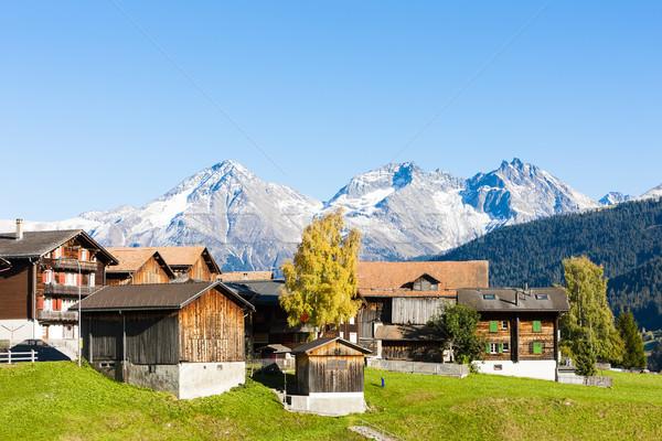 Szwajcaria budynku krajobraz góry jesienią Europie Zdjęcia stock © phbcz