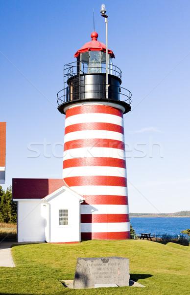 West Quoddy Head Lighthouse, Maine, USA Stock photo © phbcz