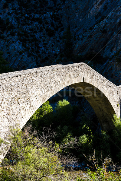bridge Pont de la Reine Jeanne, Provence, France Stock photo © phbcz