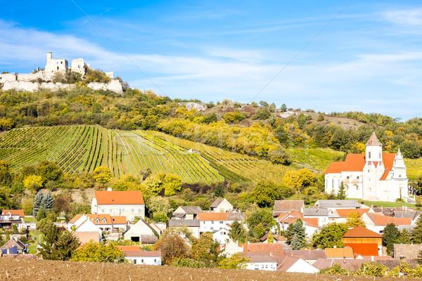 Ruínas castelo baixar Áustria edifício igreja Foto stock © phbcz