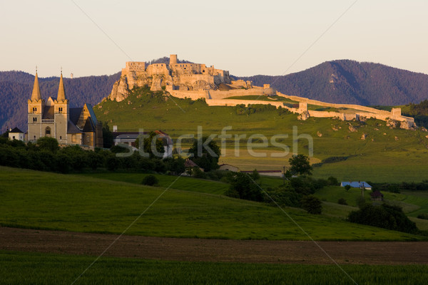 Chapter Spisska and Spissky Castle, Slovakia Stock photo © phbcz