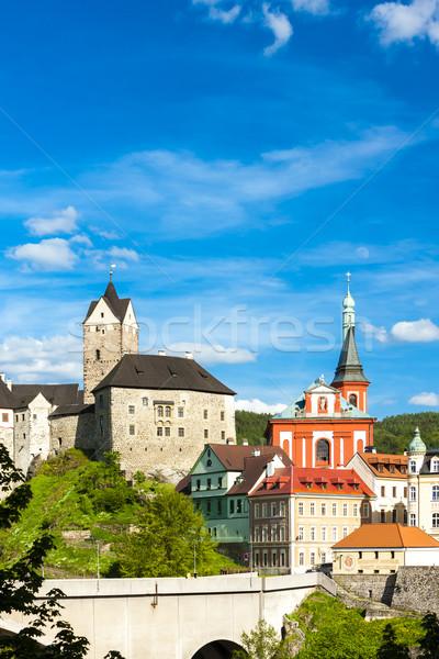 Château ville République tchèque maison pont Voyage Photo stock © phbcz