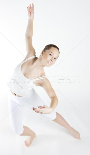 Danseur de ballet femme danse danse jeunes formation Photo stock © phbcz
