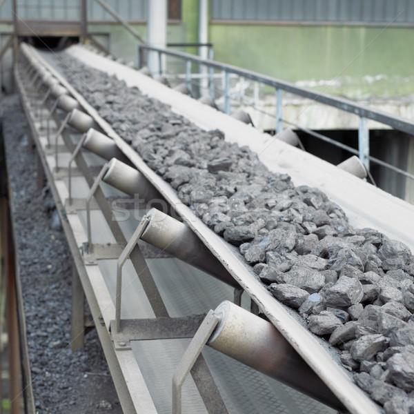 石炭 産業 オブジェクト クローズアップ 詳細 と ストックフォト © phbcz
