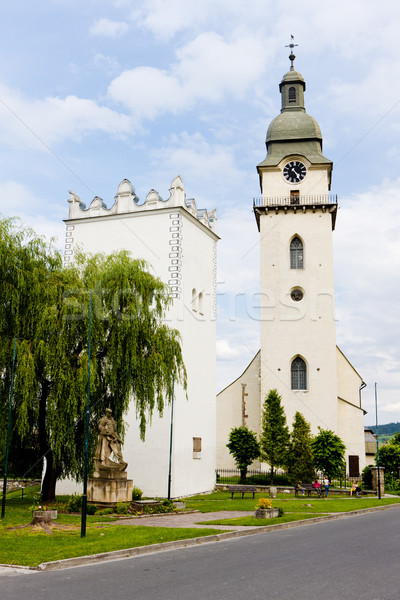 St. Anthony's church and belfry, Spisska Bela, Slovakia Stock photo © phbcz
