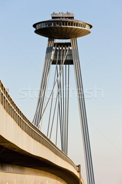 Nouvelle pont Bratislava Slovaquie Photo stock © phbcz